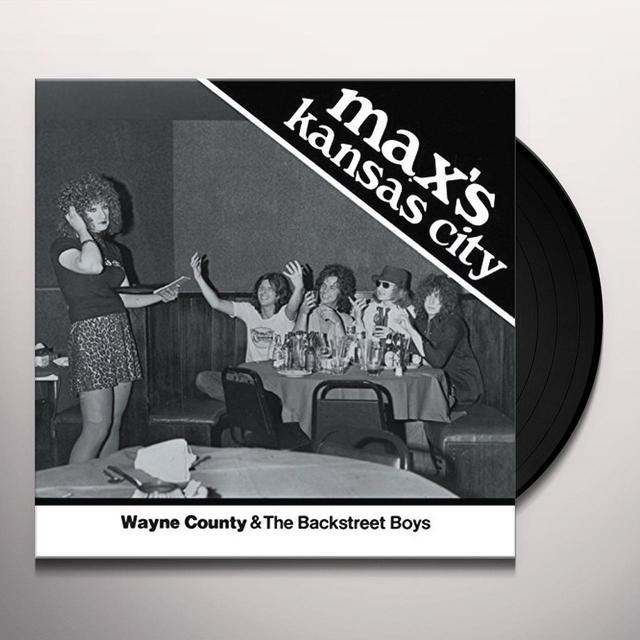 Wayne County & the Backstreet Boys MAX'S KANSAS CITY 1976 Vinyl Record