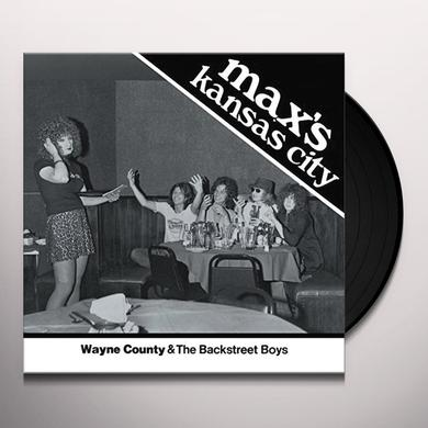 Wayne County & the Backstreet Boys MAX'S KANSAS CITY 1976 Vinyl Record