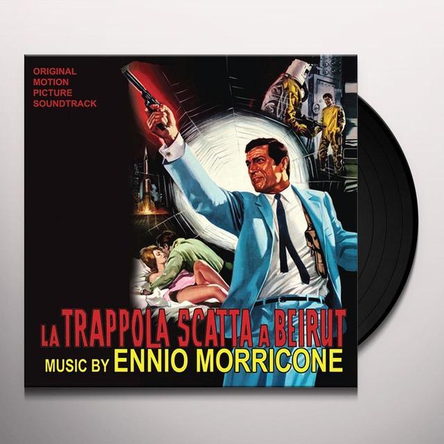 Ennio Morricone TRAPPOLA SCATTA A BEIRUT / O.S.T. Vinyl Record - 10 Inch Single, Black Vinyl