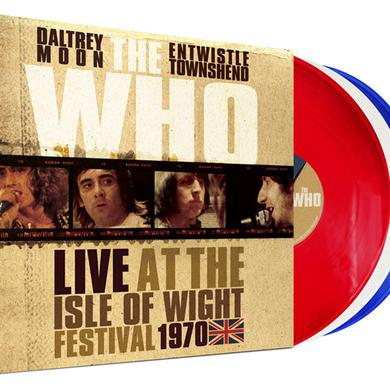 The Who LIVE AT THE ISLE OF WIGHT FESTIVAL 1970 Vinyl Record