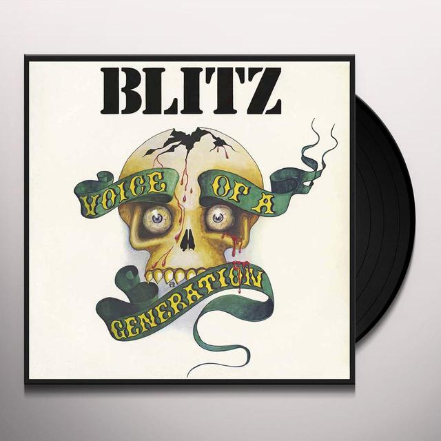 Blitz VOICE OF A GENERATION Vinyl Record - Gatefold Sleeve