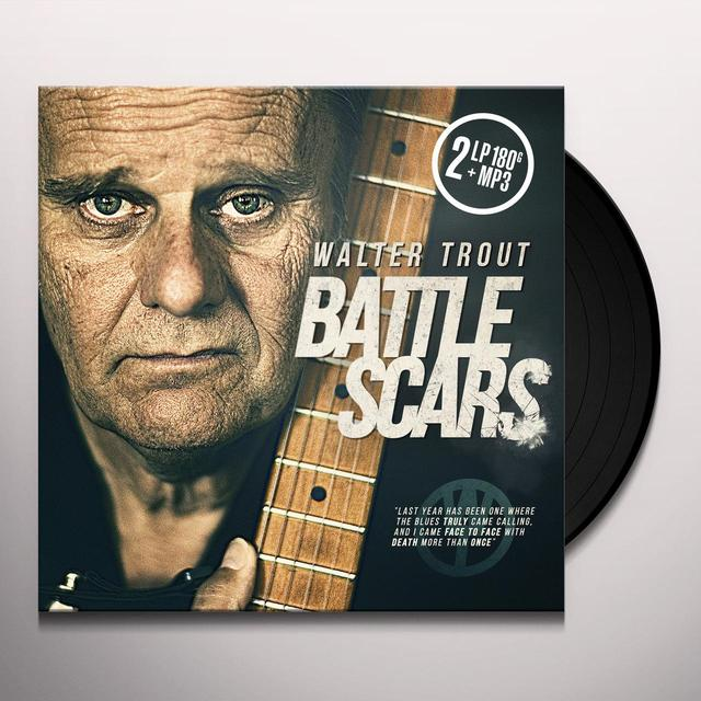 Wlater Trout BATTLE SCARS Vinyl Record - 180 Gram Pressing, Digital Download Included