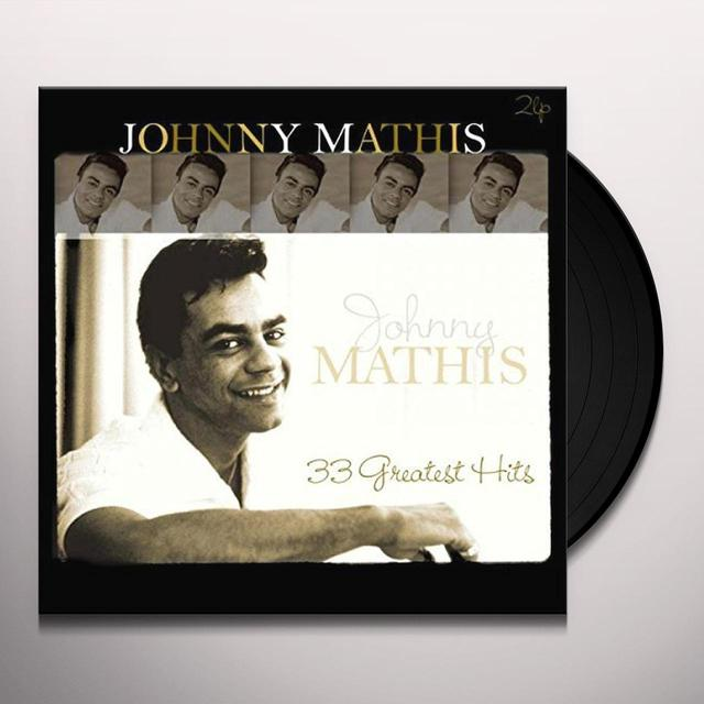 Johnny Mathis 33 GREATEST HITS Vinyl Record - Holland Import