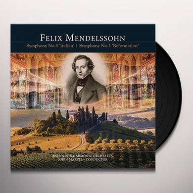 Felix Mendelssohn SYMPHONY NO. 4 ITALIAN / SYMPHONY NO. 5 REFORMATIO Vinyl Record