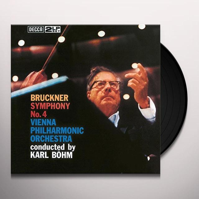 BRUCKNER / BOHM / WIENER PHILHARMONIKER SYMPHONY NO 4 Vinyl Record - 180 Gram Pressing