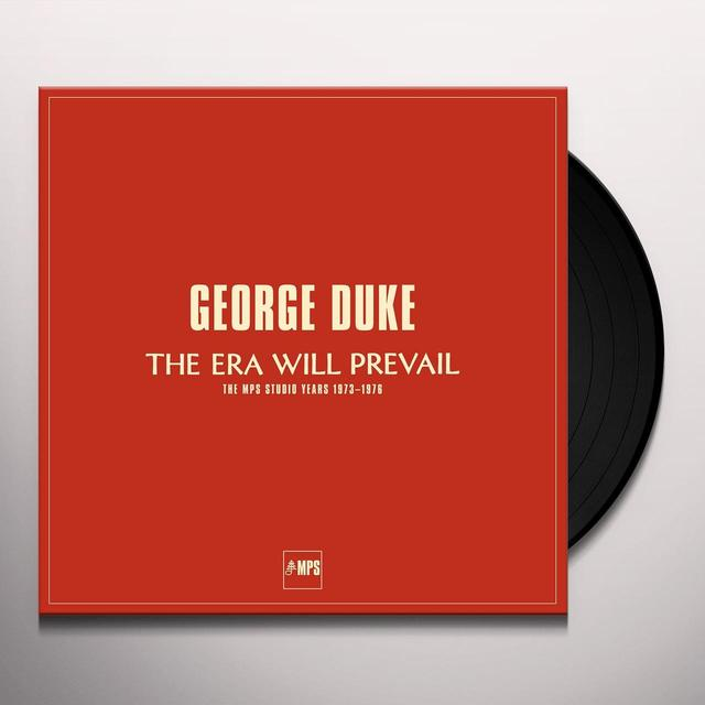 George Duke ERA WILL PREVAIL Vinyl Record - Gatefold Sleeve
