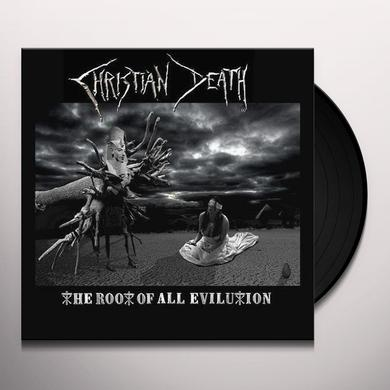 Christian Death ROOT OF ALL EVILUTION Vinyl Record - UK Release