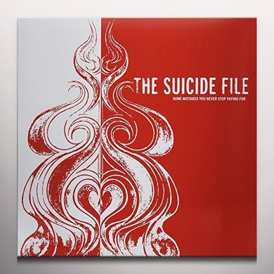 Suicide File SOME MISTAKES YOU NEVER STOP PAYING FOR Vinyl Record - Clear Vinyl