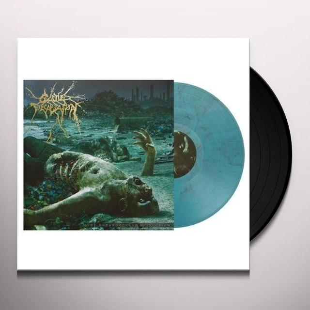 Cattle Decapitation ANTHROPOCENE EXTINCTIONAZURE/BLACK MARBLED VINYL Vinyl Record