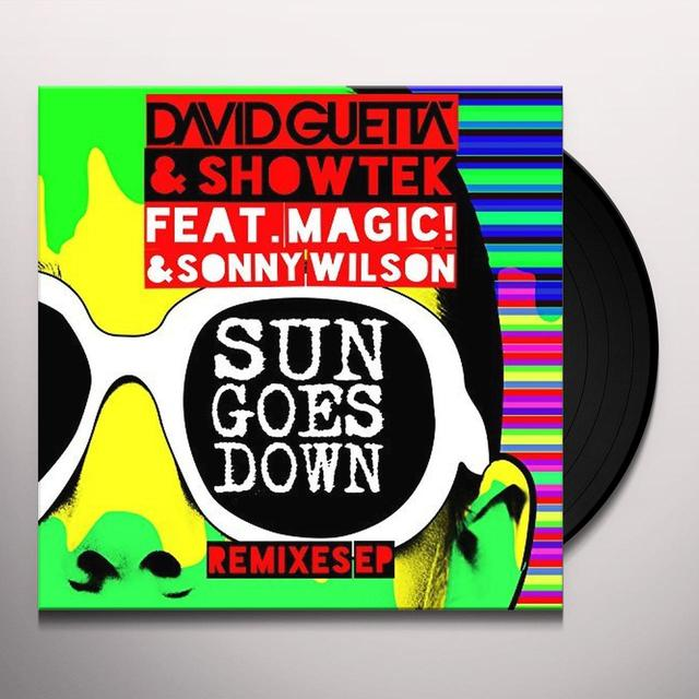 David Guetta & Showtek SUN GOES DOWN -REMIX/EP- Vinyl Record - Portugal Import