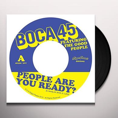 Boca 45 PEOPLE ARE YOU READY Vinyl Record - UK Import