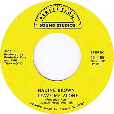 Nadine Brown LEAVE ME ALONE Vinyl Record