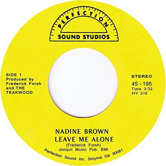 Nadine Brown LEAVE ME ALONE Vinyl Record