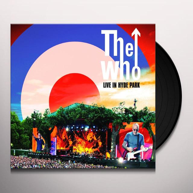 The Who LIVE IN HYDE PARK Vinyl Record