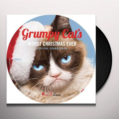 GRUMPY CAT'S WORST CHRISTMAS EVER / VARIOUS Vinyl Record - Picture Disc