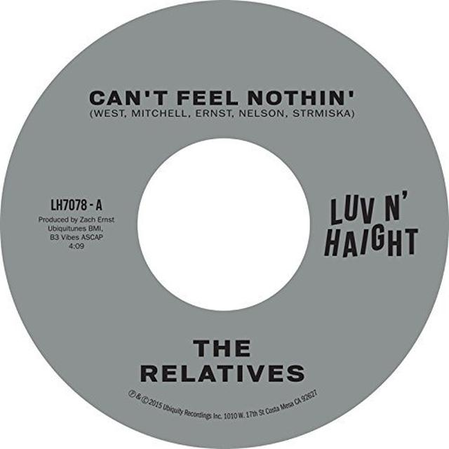 The Relatives CAN'T FEEL NOTHIN / NO MAN IS AN ISLAND Vinyl Record
