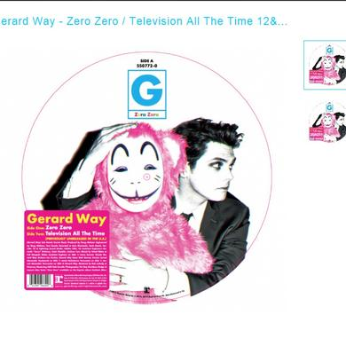 Gerald Way ZERO ZERO / TELEVISION ALL THE TIME Vinyl Record - Picture Disc