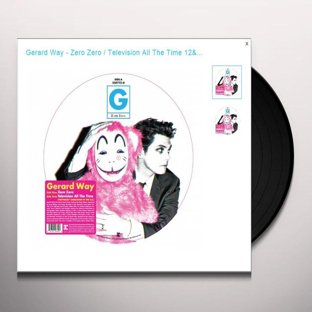 Gerald Way ZERO ZERO / TELEVISION ALL THE TIME Vinyl Record - Picture Disc