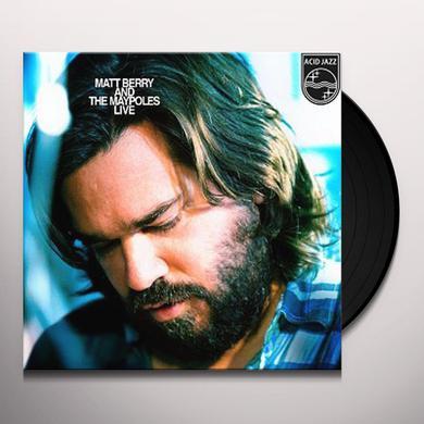 MATT BERRY & THE MAYPOLES LIVE Vinyl Record