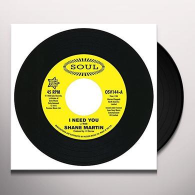 Shane Martin / Taj Mahal I NEED YOU / A LOT OF LOVE Vinyl Record - UK Import