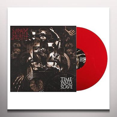 Napalm Death TIME WAITS FOR NO SLAVE (RED VINYL) Vinyl Record