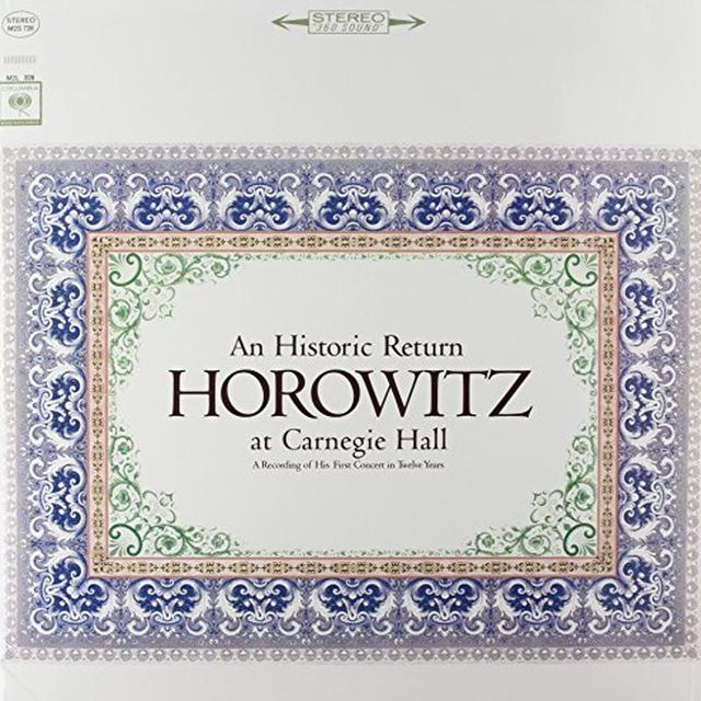 Vladimir Horowitz HOROWITZ AT CARNEGIE HALL Vinyl Record