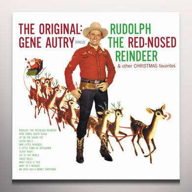 Gene Autry RUDOLPH THE RED-NOSED REINDEER Vinyl Record - Colored Vinyl, Limited Edition, Red Vinyl