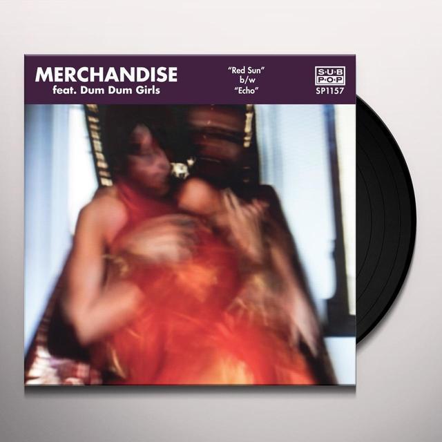 MERCHANDISE FEAT DUM DUM GIRLS RED SUN / ECHO Vinyl Record - Digital Download Included