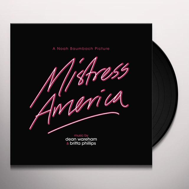 Dean Wareham / Britta Phillips MISTRESS AMERICA / O.S.T. Vinyl Record - 180 Gram Pressing, Digital Download Included