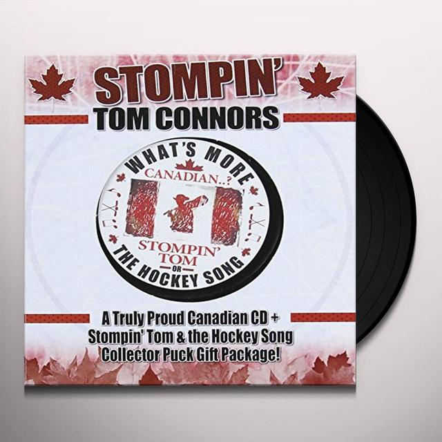 Stompin' Tom Connors TRULY PROUD CANADIAN (CD+HOCKEY PUCK) Vinyl Record - Canada Import