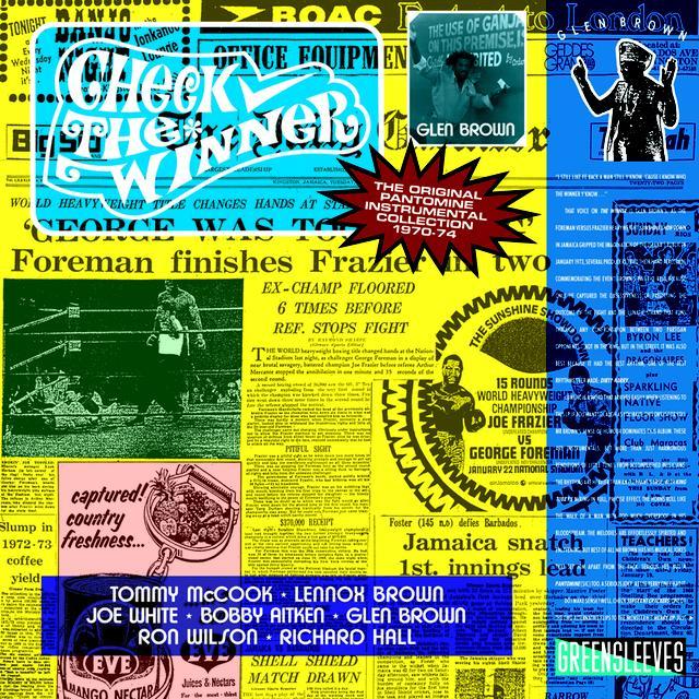 Glen Brown CHECK THE WINNER Vinyl Record - UK Import