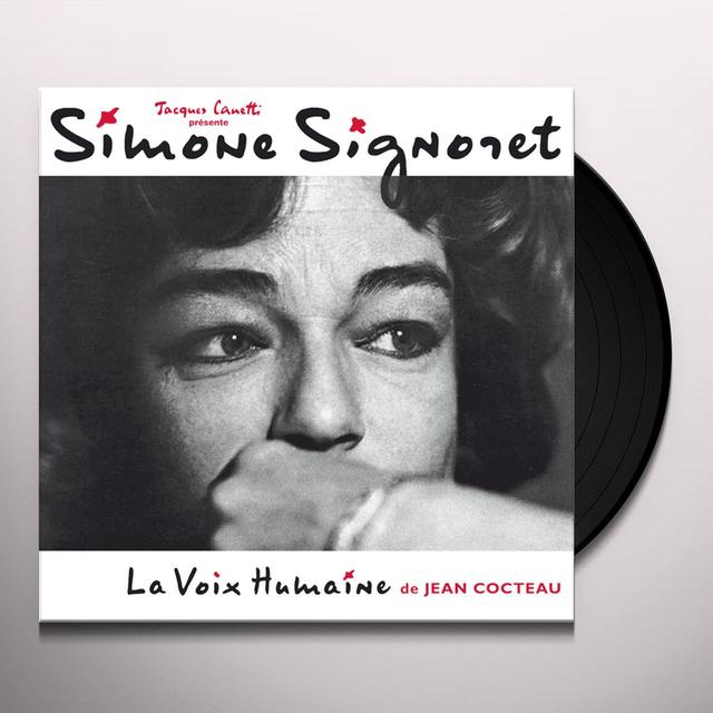 Simone Signoret DIT LA VOIX HUMAINE DE JEAN COCTEAU Vinyl Record - Canada Release