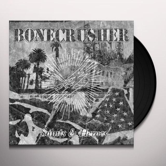 BoneCrusher SAINTS & HEROES (LP+CD) Vinyl Record - w/CD, UK Import