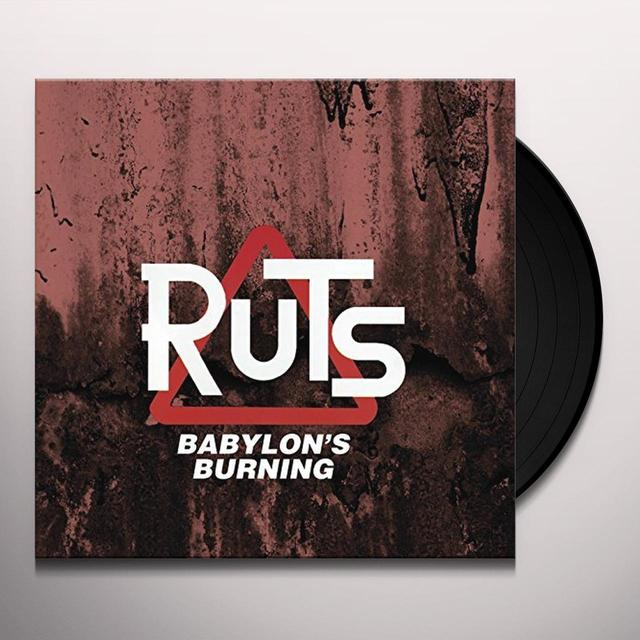 Ruts BABYLON'S BURNING Vinyl Record - UK Release