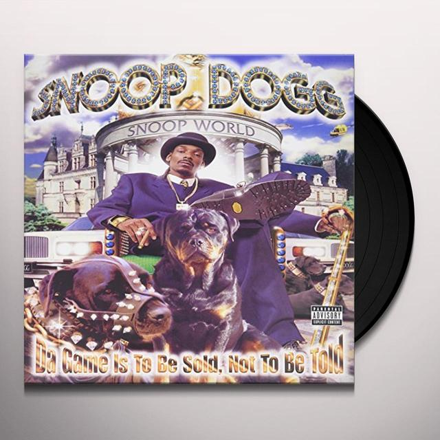 Snoop Dogg DA GAME IS TO BE SOLD NOT TO BE TOLD Vinyl Record