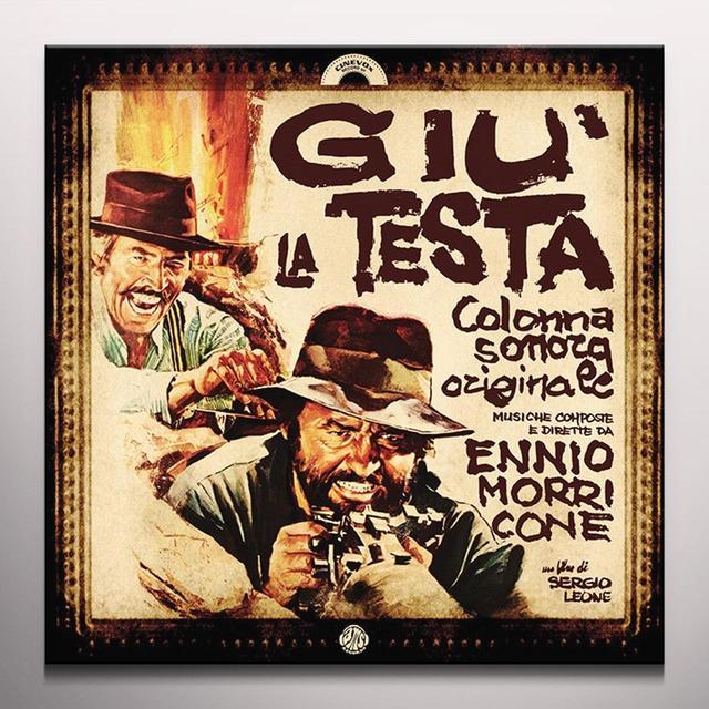 Ennio Morricone GIU' LA TESTA / O.S.T. Vinyl Record - Colored Vinyl, Limited Edition, 180 Gram Pressing