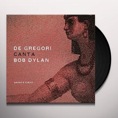 Francesco De Gregori DE GREGORI CANTA BOB DYLAN - AMORE E FURTO Vinyl Record - Italy Import