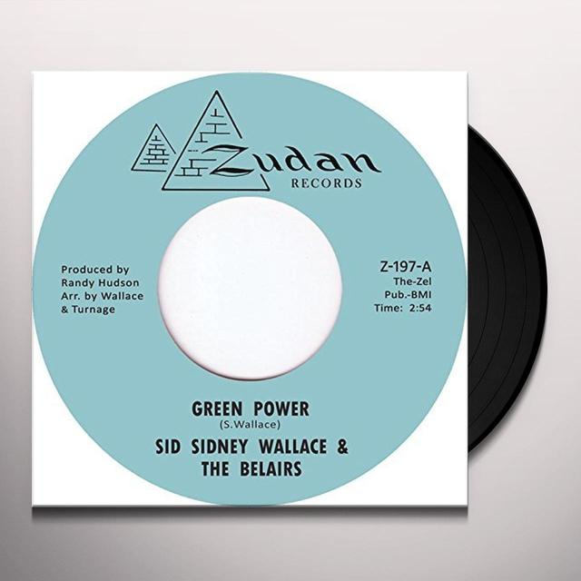 Sid Sidney Wallace & The Belairs GREEN POWER Vinyl Record - UK Import
