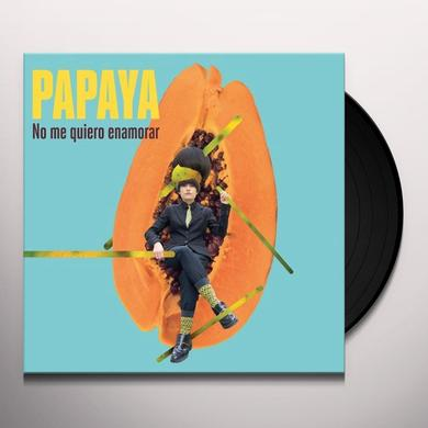 Papaya NO ME QUIERO ENAMORAR Vinyl Record - Portugal Import