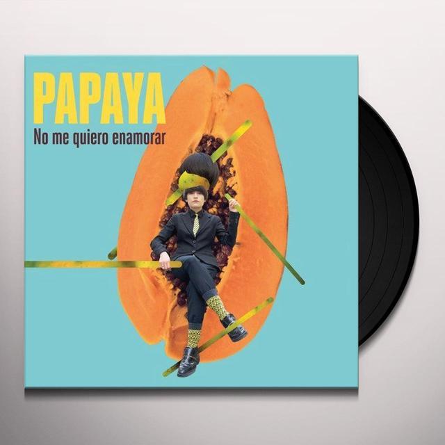 Papaya NO ME QUIERO ENAMORAR Vinyl Record - Portugal Import