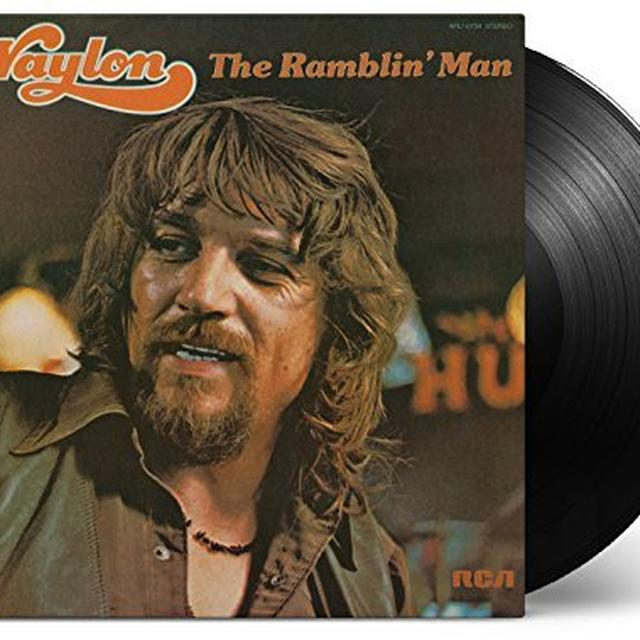 Waylon Jennings RAMBLIN MAN Vinyl Record
