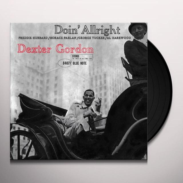 Dexter Gordon DOIN' ALLRIGHT Vinyl Record - Gatefold Sleeve, Limited Edition, 180 Gram Pressing, Remastered