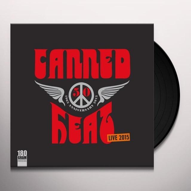 Canned Heat 50TH ANNIVERSARY LIVE 2015 Vinyl Record - 180 Gram Pressing, Anniversary Edition
