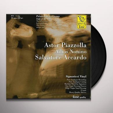 Salvatore Accardo ASTOR PIAZZOLA ADIOS NONINO Vinyl Record - Italy Import