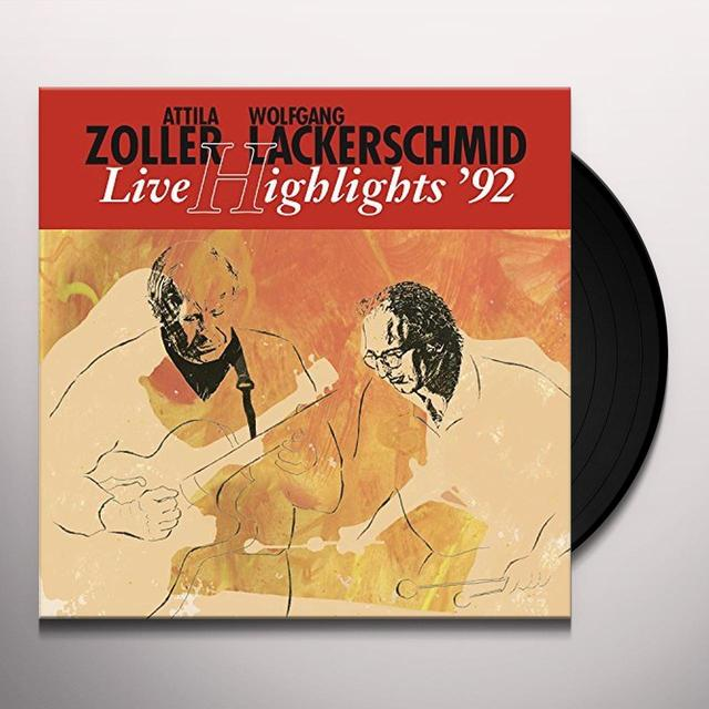 Attila Zoller & Wolfgang Lackerschmid LIVE HIGHLIGHTS '92 Vinyl Record