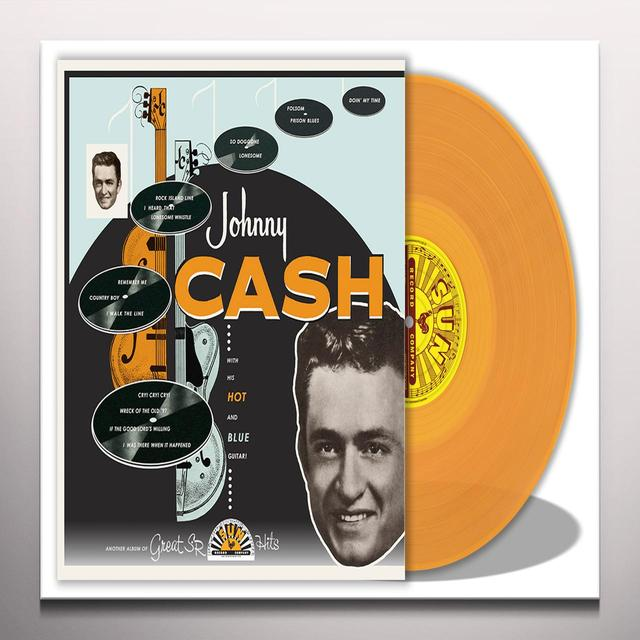 Johnny Cash WITH HIS HOT AND BLUE GUITAR Vinyl Record - Colored Vinyl, Limited Edition, Orange Vinyl