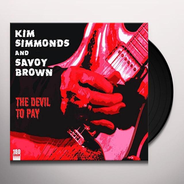 Kim Simmonds And Savoy Brown DEVIL TO PAY Vinyl Record - UK Import