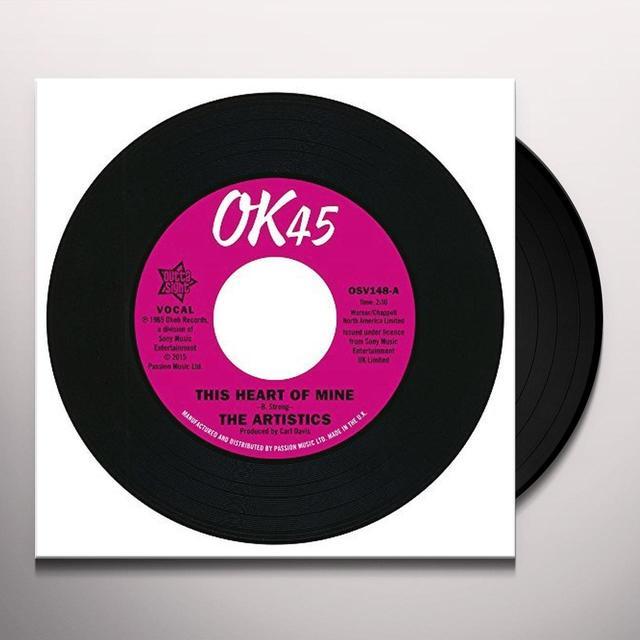 Artistics THIS HEART OF MINE / SO MUSH LOVE IN MY HEART Vinyl Record - UK Import