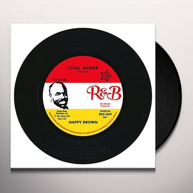 Nappy Brown COAL MINER / SKIDY WOE Vinyl Record - UK Import