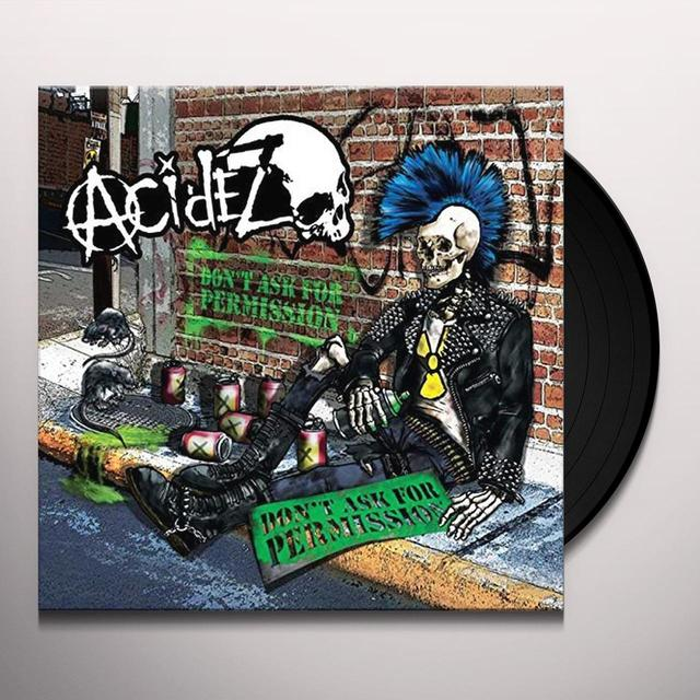 ACIDEZ DON'T ASK FOR PERMISSION (RANDOM BLACK YELLOW BLUE Vinyl Record